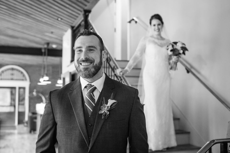 Camden Maine Wedding First Look at 16 Bay View - (c) 5iveLeaf Photography
